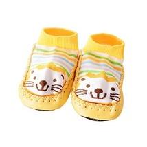 1 Pair Cartoon Winter Warm Baby Toddler Non-Slip Socks Thick Floor Socks, Yellow