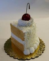 Fake Piece of Cake Coconut Cake Slice Prop Decoration  - $15.83