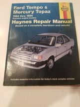 Ford Tempo & Mercury Topaz 1984 - 1994 Haynes Repair Manual 36078 Book Guide - $8.48
