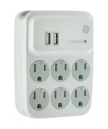 GE 25797 6-Outlet Surge Protector with 2 USB Charging Ports - $32.99