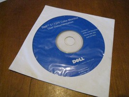 Dell E172FP Color Monitor User Documentation (Drivers INF, ICM, CAT file... - $6.55