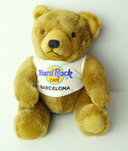 Hard Rock Cafe Brown Bear Barcelona T Shirt Souvenir Spain 8 inch - $4.22
