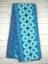 Fleece Blanket Throw 50 x 60 Blue Medallion - $9.99