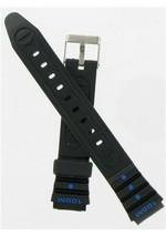 Hadley Roma 14mm Black/Blue Ladies Divers Strap SHIPSFREE - $8.46