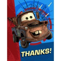 Disney Cars 2 Party Thank You Cards 8 Per Package Birthday Supplies NEW - $3.91