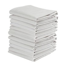 KAF Home Set of 12 White WRINKLED Flour Sack Kitchen / Chef Towels, 100-... - $19.28