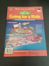 A Golden Book Sesame Street Press-Out Playbook Going for a Ride Henson's... - $15.84