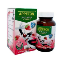 1 X Appeton A-Z Kid's Vitamin  30mg 100's - Strawberry Flavour Free Ship - $22.90