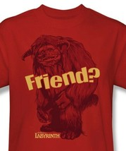 Labyrinth Ludo Friend T-shirt retro 80s cool graphic printed cottom tee LAB112 image 1
