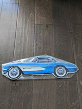 "18"" Gm Blue Classic Car Auto 3d Cutout Retro Usa Steel Plate Display Ad Sign - $73.50"