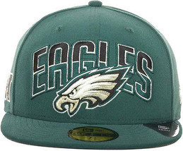 New Era Philadelphia Eagles Draft 2013 Flip Under Visor 59Fifty Fitted C... - $652,91 MXN