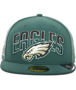 New Era Philadelphia Eagles Draft 2013 Flip Under Visor 59Fifty Fitted C... - €27,40 EUR