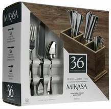 NEW Mikasa 5228042 Briella 36-Piece 18/10 Stainless Steel Flatware Set f... - $79.19