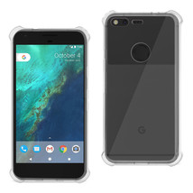 REIKO GOOGLE PIXEL CLEAR BUMPER CASE WITH AIR CUSHION PROTECTION IN CLEAR - $8.09