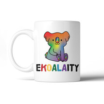 365 Printing LGBT Ekoalaity Koala Rainbow White Mug - $14.99