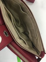 Coach Archival Wristlet 40207 Legacy Red Glove Leather Turnlock Clutch Bag B26 image 8