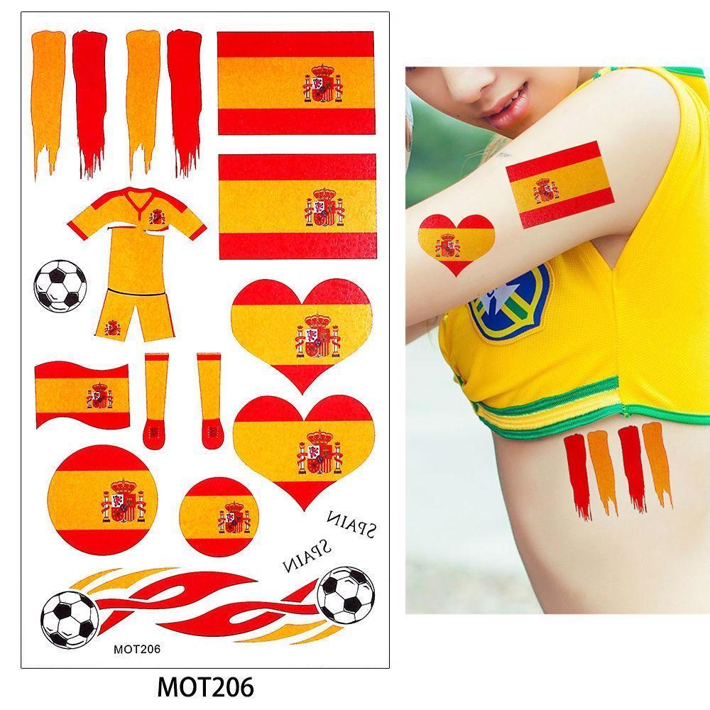 National Flag Temporary Tattoo Football And 50 Similar Items Tatto Sticker Hb577 World Cup 2018 Soccer Fan Body