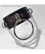 DWL Triple Chain & O-Ring BDSM Buckle Collar in BLACK - $19.99