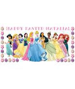 Disney Princess Easter Basket Sticker, Waterproof and Personalized - $3.25+
