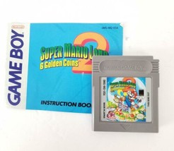 Game Boy Game SuperMarioLand 6 Golden Coins Cartridge AND Manual 1992Tested - $54.44