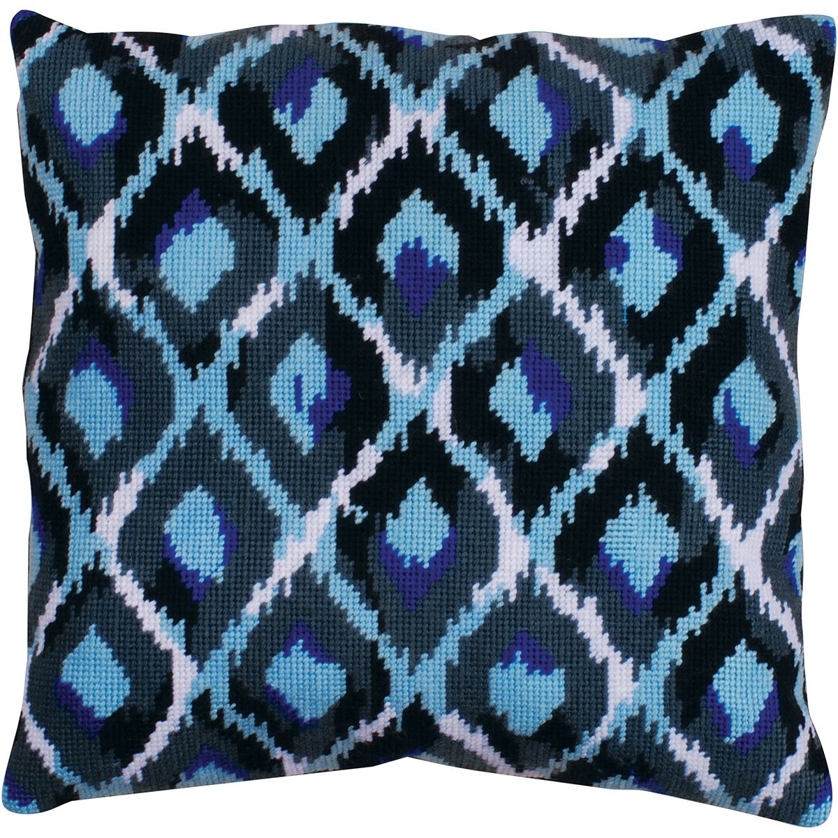 "Primary image for Design Works Needlepoint Kit 12""X12"" -Blue Ikat-Stitched In Yarn"