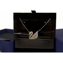 Swarovski Signature Swan Pendant with Chain Never Used in Box image 1