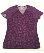 Purple Scrubs Short Sleeved Medical Scrub Top Shirt Womens Size XS - $18.80