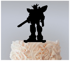 Wedding,Birthday Cake topper,Cupcake topper,silhouette Gundam Experience 11 pcs - $20.00