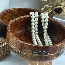 Decorative Thuya Wooden tableware handmade bowl, wooden multi-use servin... - $64.98