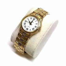 BULOVA Luxury Gold Tone Quartz Wristwatch w/ White Face - Model No. BU-6... - $89.09
