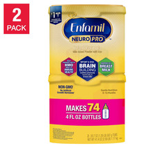 Baby Formula Enfamil NeuroPro Infant 20.7-Ounce 2-Pack Non-GMO Makes 74 ... - $62.22