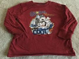 Jumping Beans Boys Red Global Warming Polar Bear Penguin Long Sleeve Shirt 3T  - $4.00