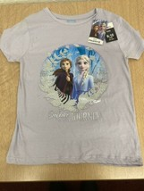 Girls Frozen 2 T-Shirt, Age 9-10. New! 'Believe In The Journey' Lilac te... - $6.78