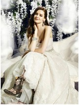 MOONLIGHT COUTURE H1283 Rustic Chic Sweetheart French Lace A-line Weddin... - $397.38