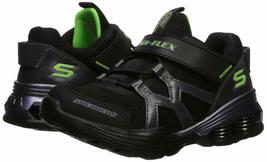 Skechers Kids Boys' MEGA-Volt Sneaker, Black/Purple, 13.5 Medium US Little Kid image 5