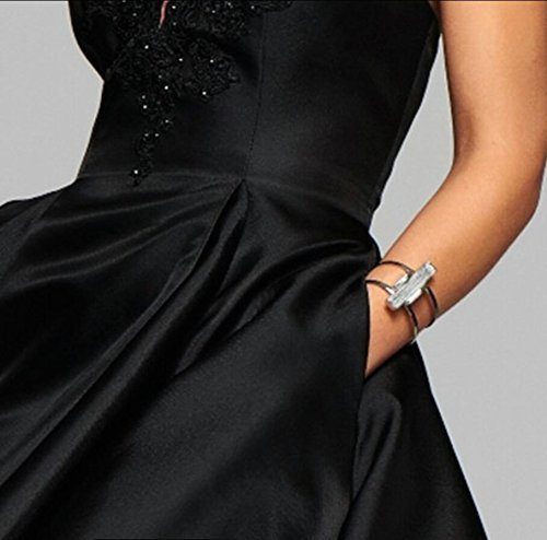 Womens A line Satin Lace Applique Short Homecoming Dress Halter Party Prom Dress