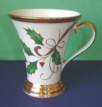 Lenox Holiday Nouveau Accent Mug Gold Handle Base & Rim New Retired - $74.90