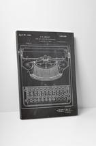 Typewriter Patent Print Gallery Wrapped Canvas Print. BONUS WALL DECAL! - $44.50+