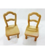 Vintage dollhouse furniture epoch miniatures kitchen chairs dining room ... - $15.84