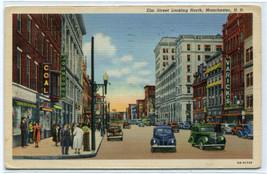 Elm Street Cars Manchester New Hampshire 1944 postcard - $6.44