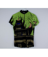 Jamie Sadock Crinkle Golf Shirt Green Size XS Asian Pagoda Half Zip Art ... - $29.99