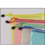 Mesh Bag 4.7x6.3 zipper storage project bag assorted colors cross stitch  - $3.50