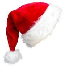 High-end Santa Hat,Christmas Hat For Adults Decoration Velvet Plush Supe... - $15.19