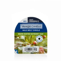 Yankee Candle Snow-Dusted Bayberry Leaf Wax Melt Single Six (6) - $18.00
