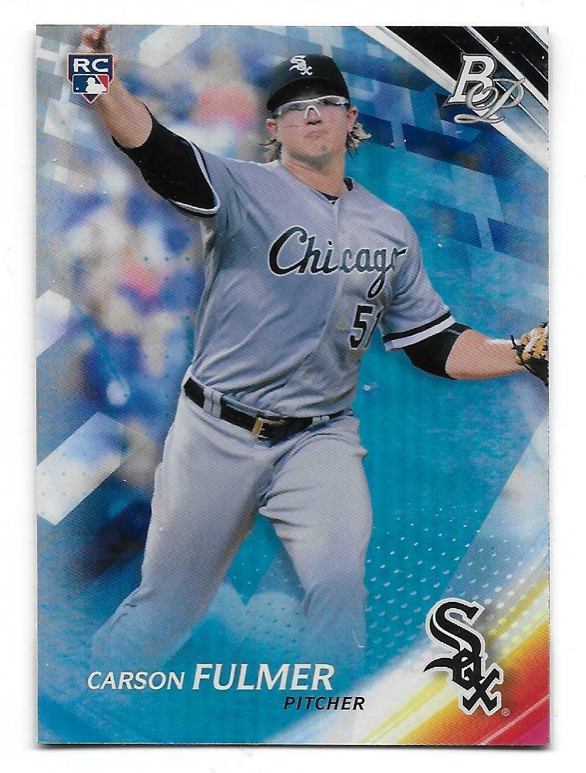 2017 Bowman Platinum Carson Fulmer Chicago White Sox Rookie Card #12