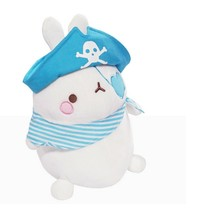 Molang Pirate Stuffed Animal Rabbit Plush Toy 8.6 inches 22cm (Blue) image 2