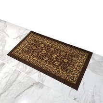 Doormat 18x30 Brown Traditional Kitchen Rugs and mats | Rubber Backed No... - $20.34