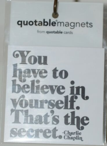 Quotable Magnets M308 You have to believe in yourself Refrigerator Magnet