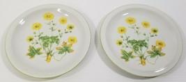 "Set of 2 Royal Domino Collection Japan ""Sunrise"" Salad Plates Poppy Flower - $9.89"