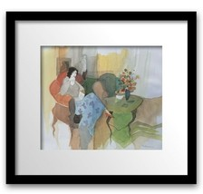 ITZHAK TARKAY OFFSET LITHOGRAPH ON PAPER PLATE SIGNED FRAMED MINT CONDITION - $266.63